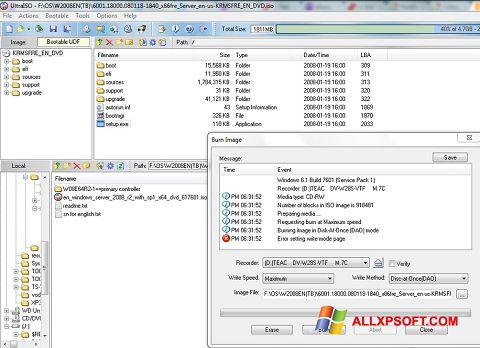 Skærmbillede UltraISO Windows XP
