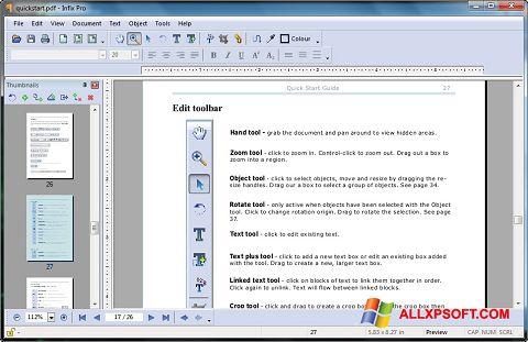 Skærmbillede Infix PDF Editor Windows XP