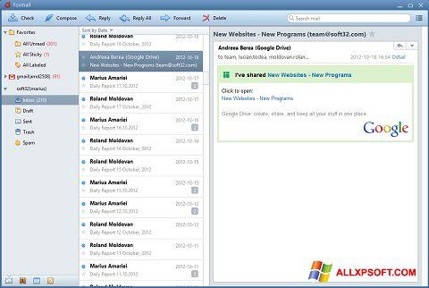Skærmbillede FoxMail Windows XP