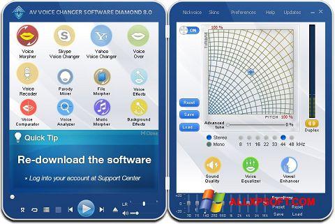 Skærmbillede AV Voice Changer Diamond Windows XP