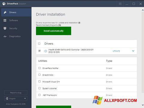Skærmbillede DriverPack Solution Windows XP