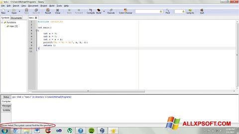 Skærmbillede Geany Windows XP
