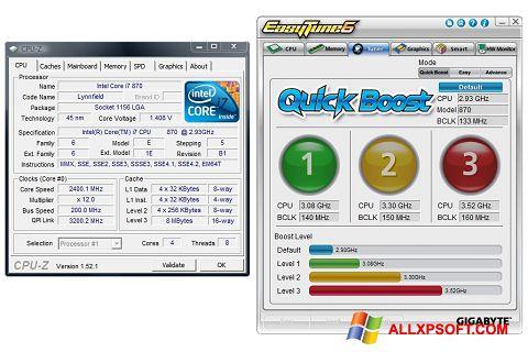 Skærmbillede EasyTune Windows XP