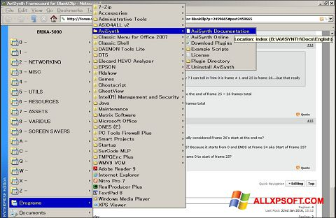 Skærmbillede AviSynth Windows XP