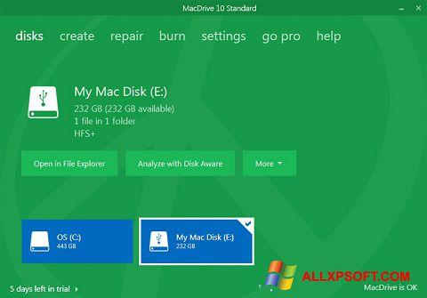 Skærmbillede MacDrive Windows XP
