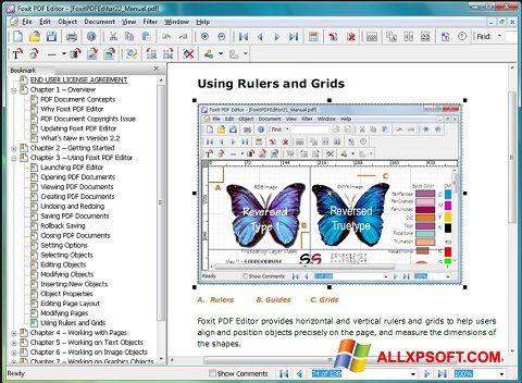 Skærmbillede Foxit PDF Editor Windows XP