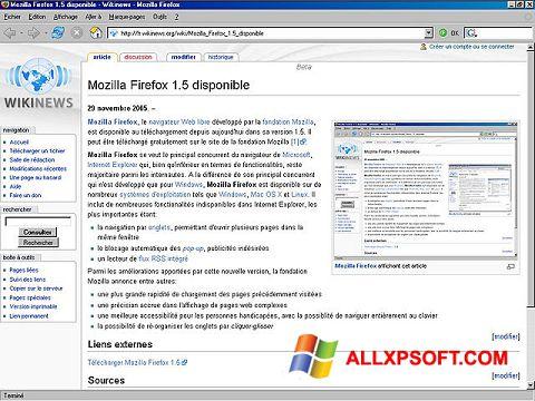 Skærmbillede Mozilla Firefox Windows XP