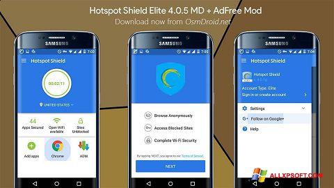 Skærmbillede Hotspot Shield Windows XP