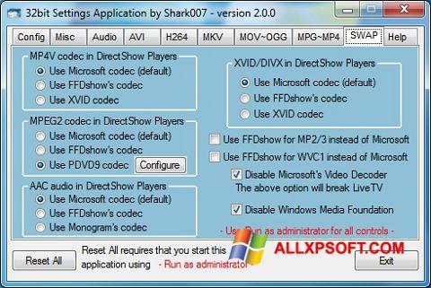 Skærmbillede ADVANCED Codecs Windows XP