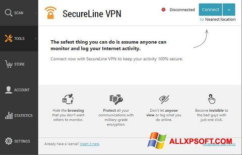 Skærmbillede Avast SecureLine VPN Windows XP