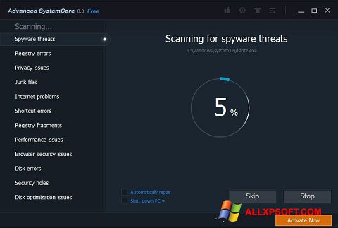 Skærmbillede Advanced SystemCare Pro Windows XP