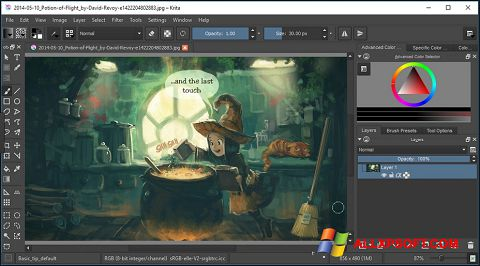 Skærmbillede Krita Windows XP