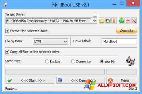 Skærmbillede Multi Boot USB Windows XP