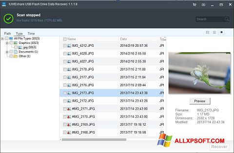 Skærmbillede USB Flash Drive Recovery Windows XP