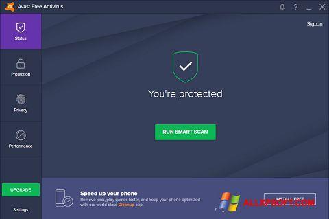 Skærmbillede Avast Free Antivirus Windows XP