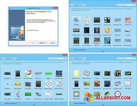 Skærmbillede 8GadgetPack Windows XP