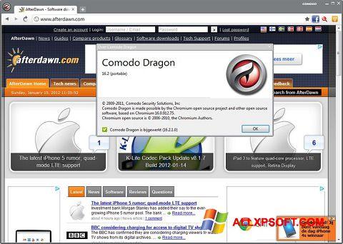 Skærmbillede Comodo Dragon Windows XP