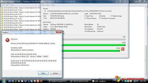 Skærmbillede ImgBurn Windows XP