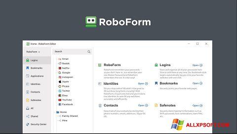 Skærmbillede RoboForm Windows XP