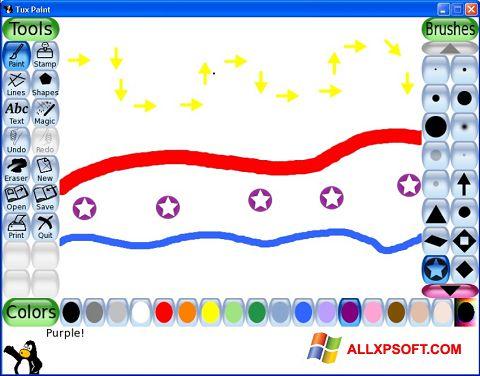 Skærmbillede Tux Paint Windows XP