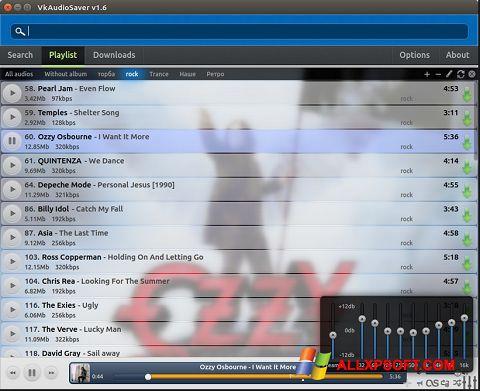 Skærmbillede VkAudioSaver Windows XP