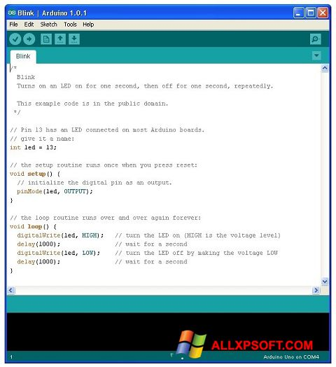 Skærmbillede Arduino Windows XP