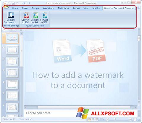 Skærmbillede Microsoft PowerPoint Windows XP