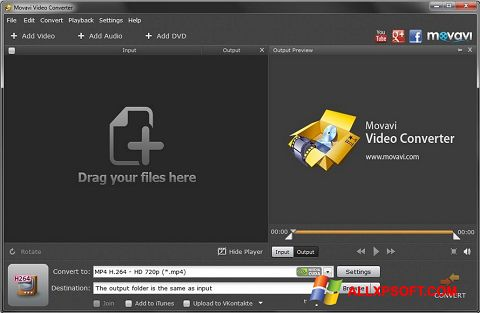 Skærmbillede Movavi Video Converter Windows XP
