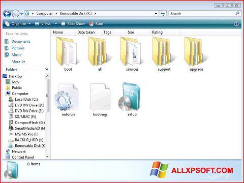 Skærmbillede Windows 7 USB DVD Download Tool Windows XP