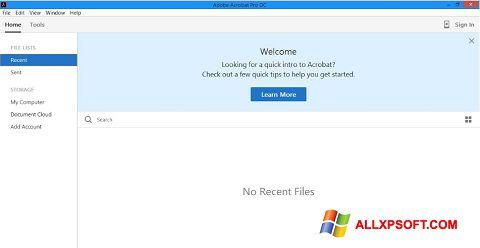 Skærmbillede Adobe Acrobat Pro DC Windows XP