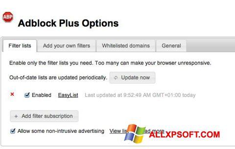 Skærmbillede Adblock Plus Windows XP