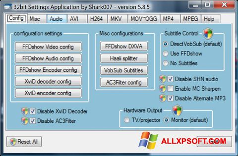Skærmbillede Vista Codec Package Windows XP
