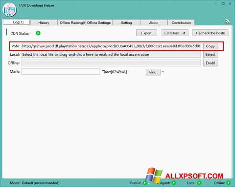 Skærmbillede DownloadHelper Windows XP