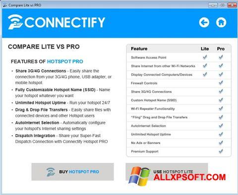 Skærmbillede Connectify Beta Windows XP