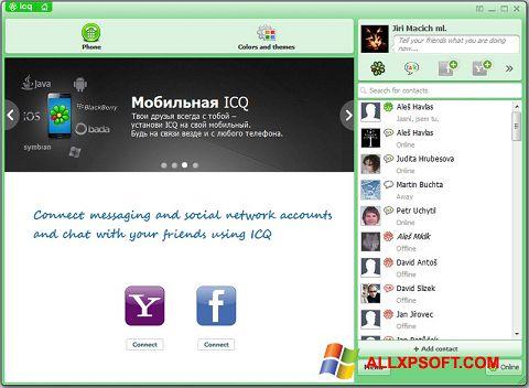 Skærmbillede ICQ Windows XP