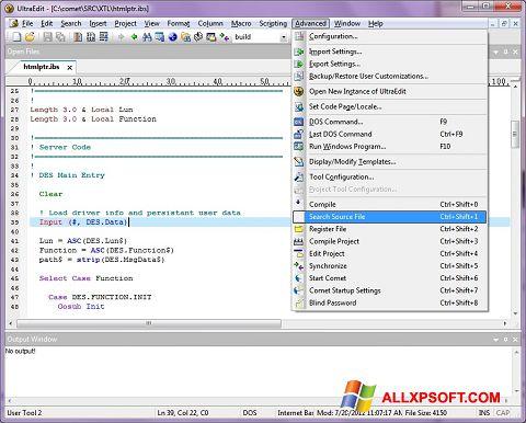 Skærmbillede UltraEdit Windows XP
