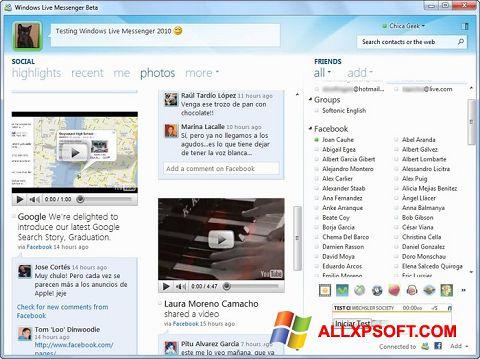 Skærmbillede Windows Live Messenger Windows XP