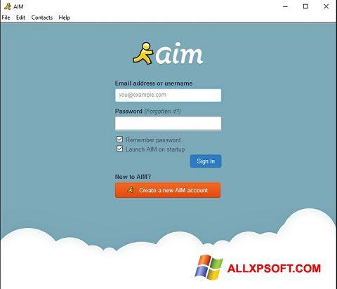 Skærmbillede AOL Instant Messenger Windows XP