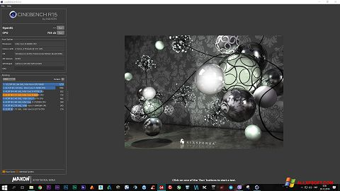 Skærmbillede CINEBENCH Windows XP