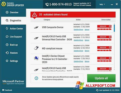 Skærmbillede Auslogics Driver Updater Windows XP