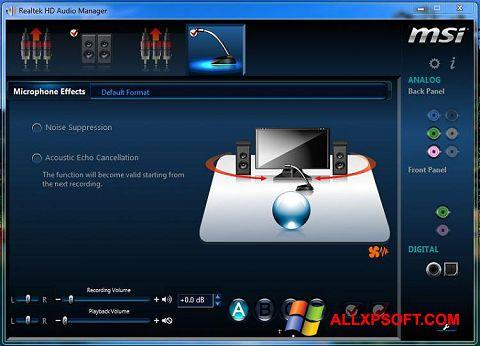 Skærmbillede Realtek Audio Driver Windows XP