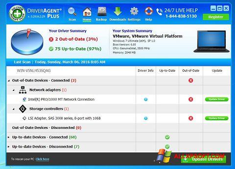 Skærmbillede DriverAgent Windows XP