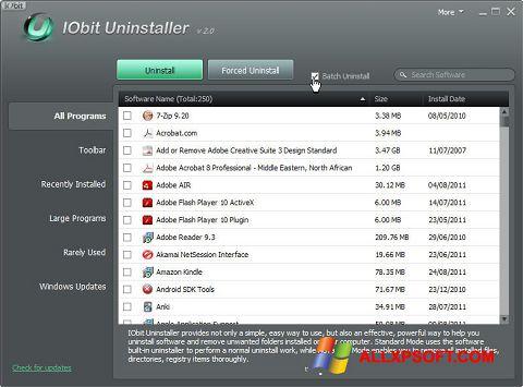 Skærmbillede IObit Uninstaller Windows XP