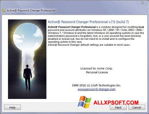 Skærmbillede Active Password Changer Windows XP