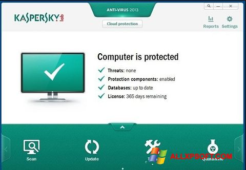 Skærmbillede Kaspersky Free Antivirus Windows XP