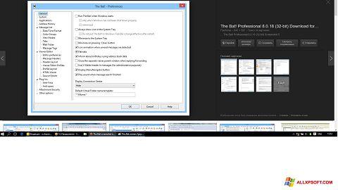 Skærmbillede The Bat! Windows XP