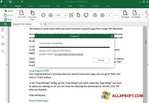 Skærmbillede PDF Editor Windows XP