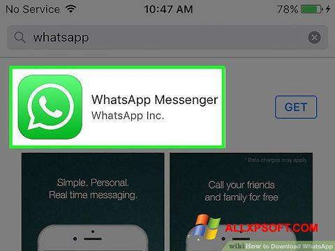 Skærmbillede WhatsApp Windows XP