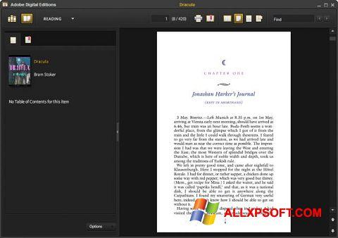 Skærmbillede Adobe Digital Editions Windows XP