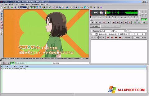 Skærmbillede Aegisub Windows XP
